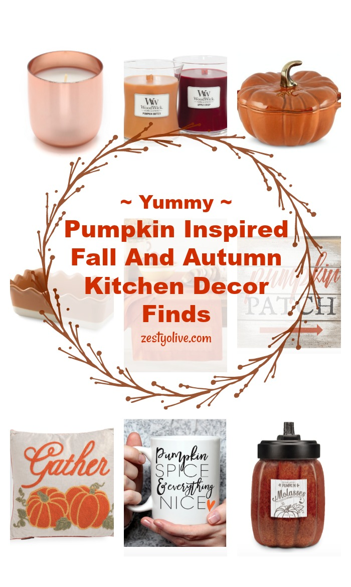 Pumpkin Inspired Fall and Autumn Kitchen Decor Finds - makes great gifts!