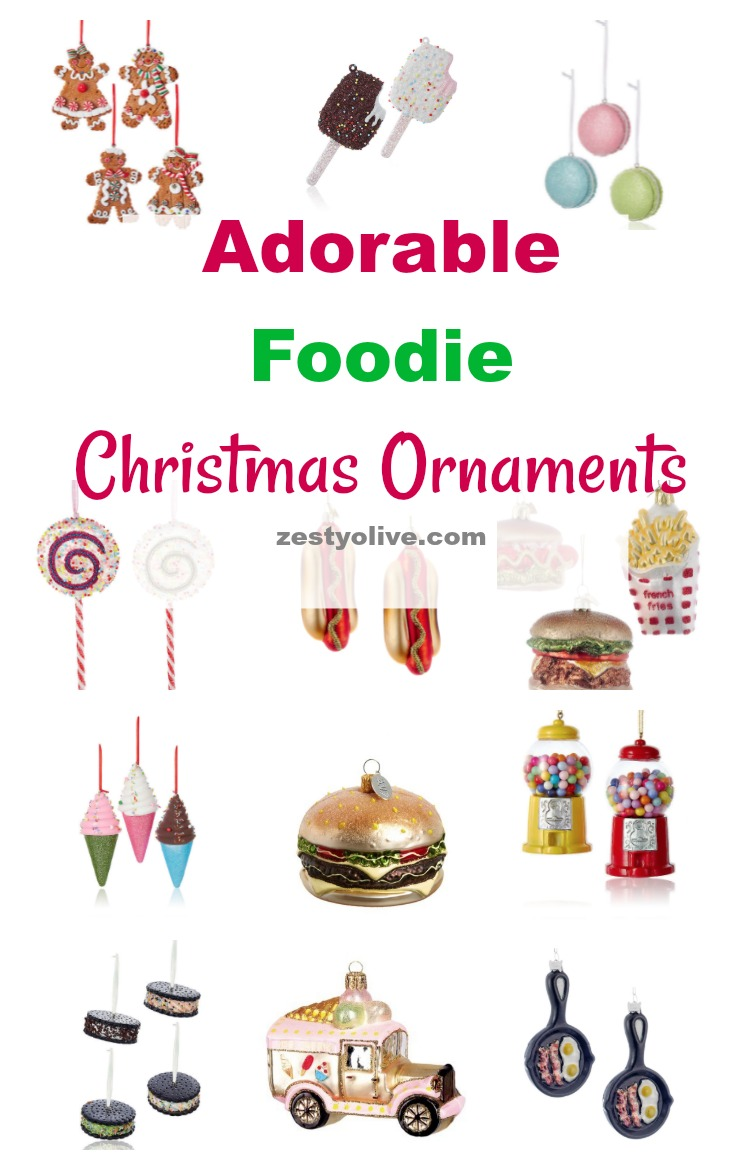 Can't get enough of these adorable foodie Christmas ornaments? Decorate your own tree or give several as a gift to the foodie on your list!