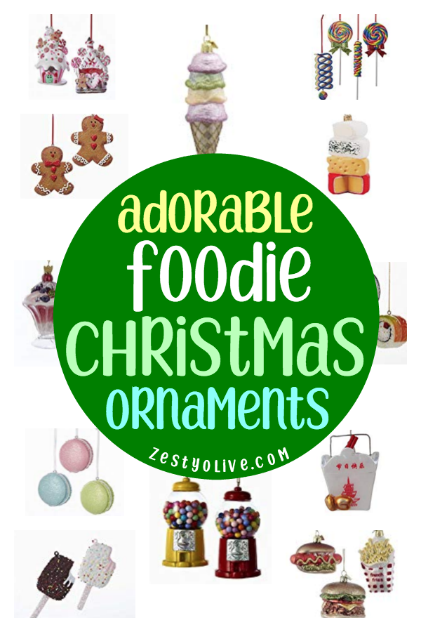 Are you a foodie? Do you love Christmas? Then check out these adorable foodie Christmas ornaments! Consider decorating your tree with these food themed ornaments.These miniature food replicas also make great stocking stuffer or secret Santa gifts!