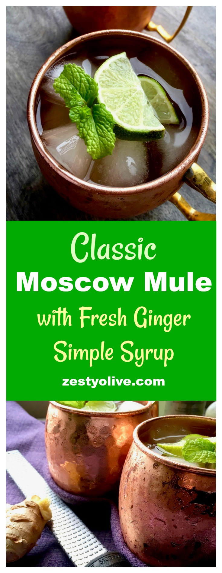 Although Moscow Mules are meant to be enjoyed ice cold, there is something inherently comforting about the warm, spicy notes of ginger found in this classic cocktail.