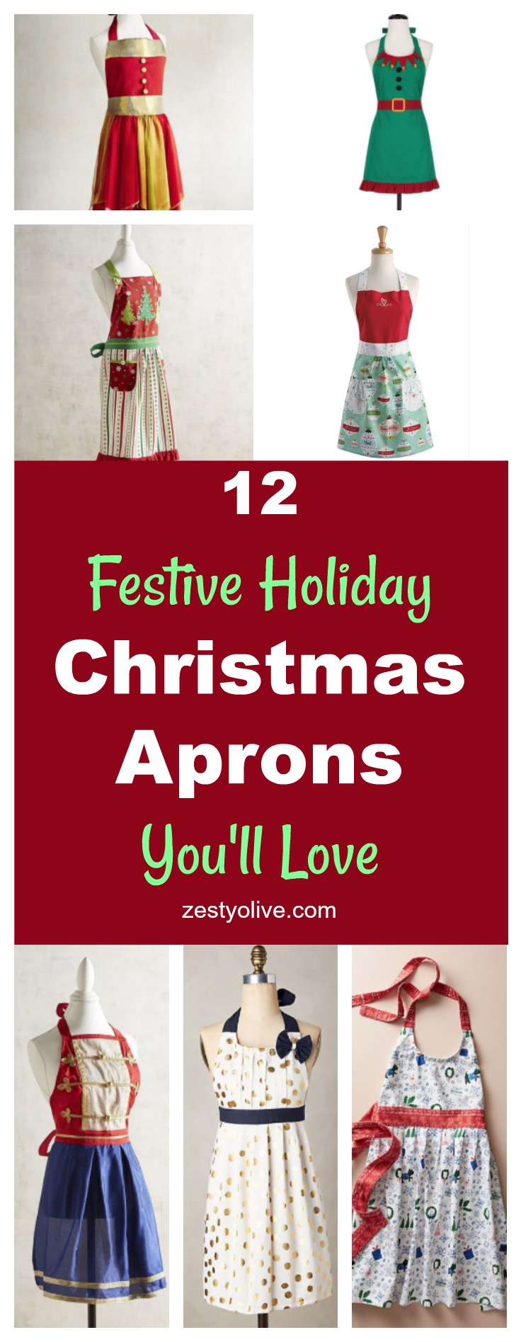 12 Festive Holiday Christmas Aprons You'll Love
