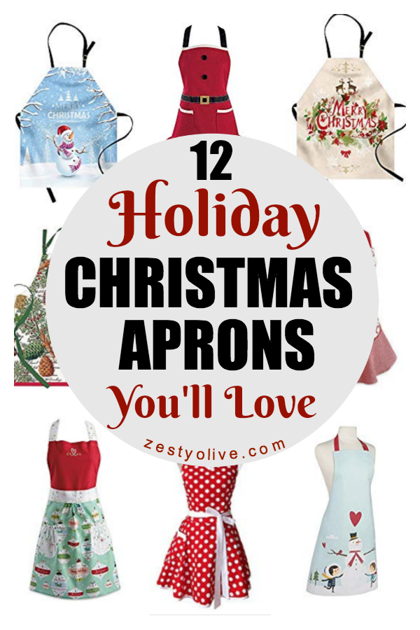 Get in the holiday spirit this season with one of these 12 Festive Holiday Christmas Aprons. You'll love the fashionable designs that you can coordinate with your wardrobe or let it make a statement of its own.