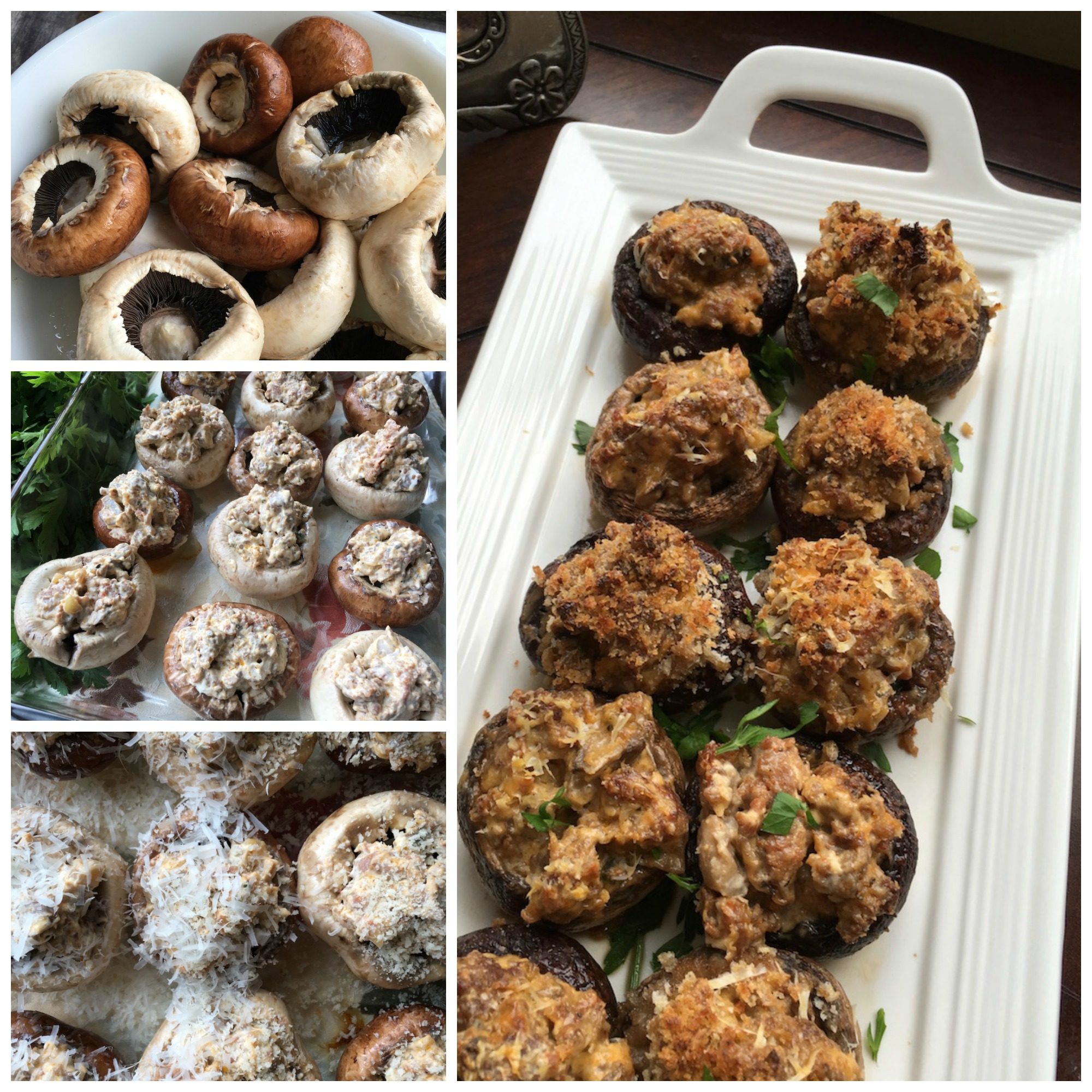 These Stuffed Mushrooms with Sausage and Cream Cheese are a zesty appetizer to serve when entertaining. They are easy to make and your guests will love them!