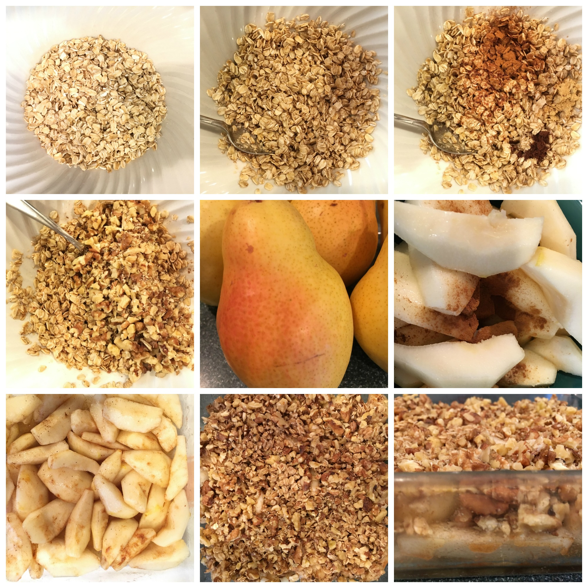 Pear Crisp Collage
