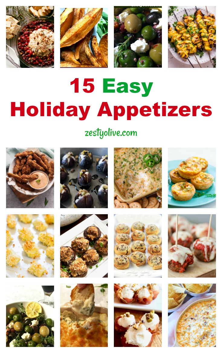 Spend less time in the kitchen and more time entertaining your guests with these 15 Easy Holiday Appetizers. These 15 easy holiday appetizers are perfect for Thanksgiving, Christmas, New Year's and beyond. Many can be made ahead so that you can spend more time entertaining at your party as your celebrate the festive season.