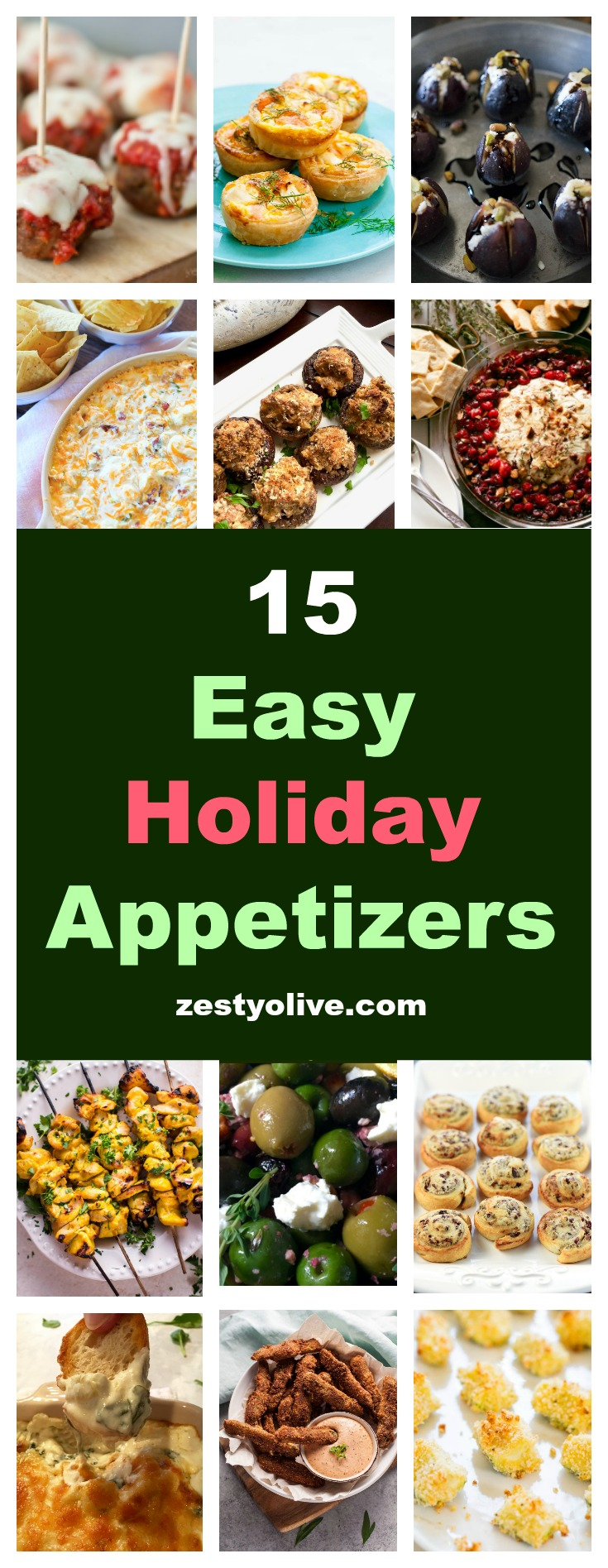 Spend less time in the kitchen and more time entertaining your guests with these 15 Easy Holiday Appetizers.