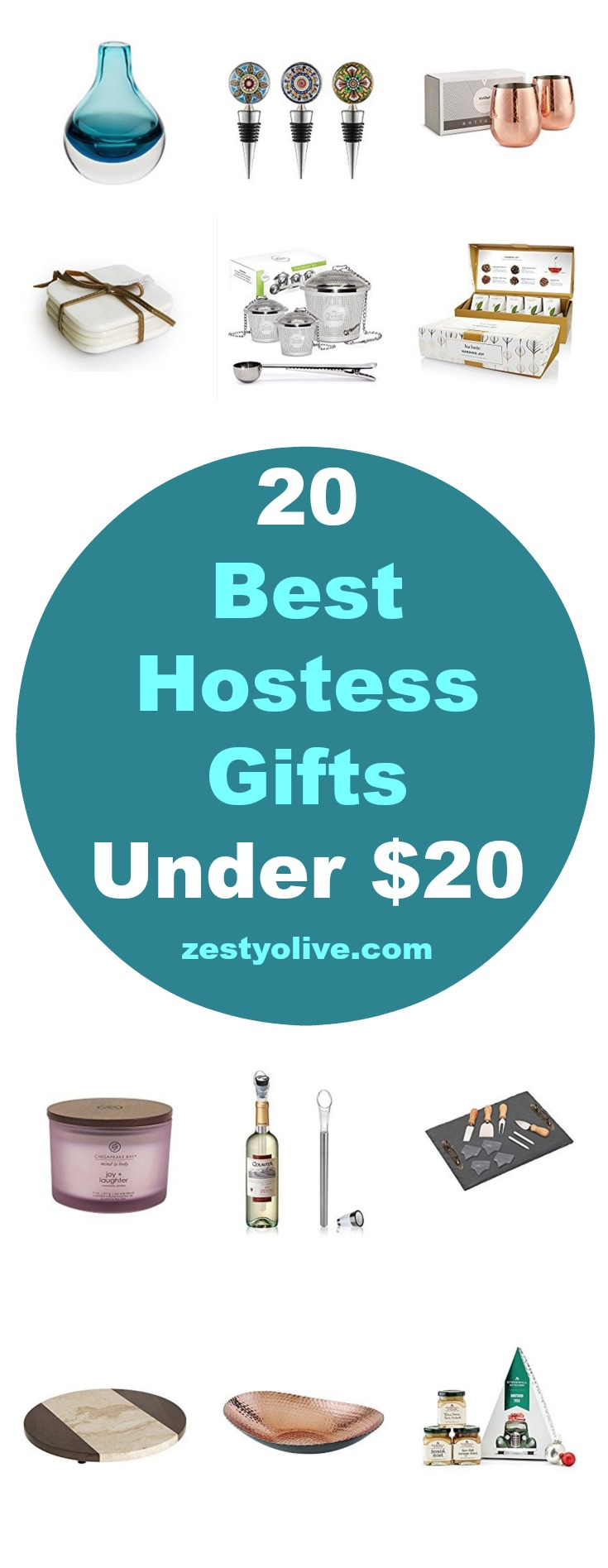 Searching for a last minute hostess gift? Here are 20 Best Hostess Gifts Under $20 that will delight your recipient.
