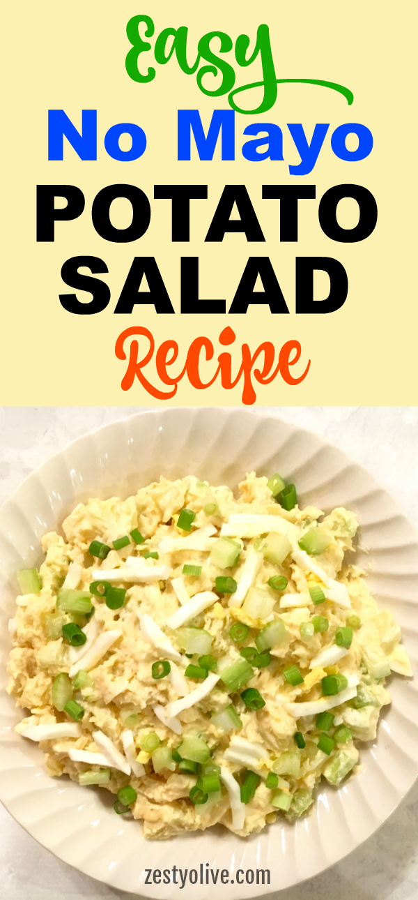 This Easy No Mayo Potato Salad Recipe is will become a favorite at your next picnic, BBQ or potluck.