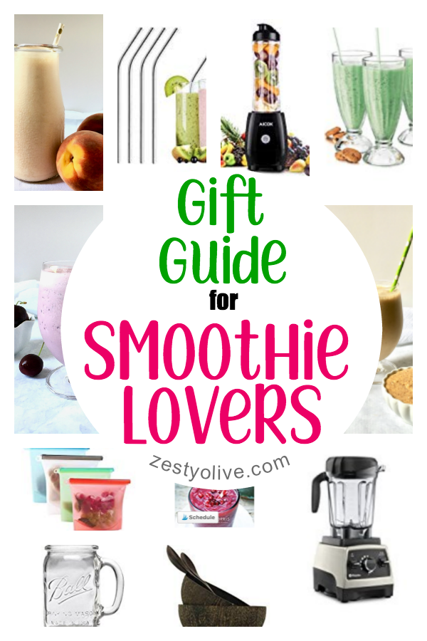 This Gift Guide for Smoothie Lovers will help you choose the perfect item for those in your life who love blending and crafting their protein shakes, smoothies and smoothie bowls.