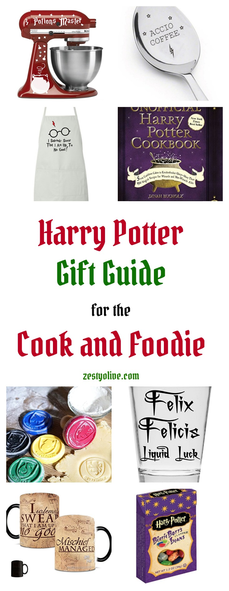 Whether you aspire to deck out your kitchen like the Great Hall or just have a cozy kitchen like Mrs. Weasley, here's a Harry Potter Gift Guide for the Cook or Foodie. Accio, cooking skills! #harrypotter #harrypottergifts #giftguide #cooking #recipes #accio