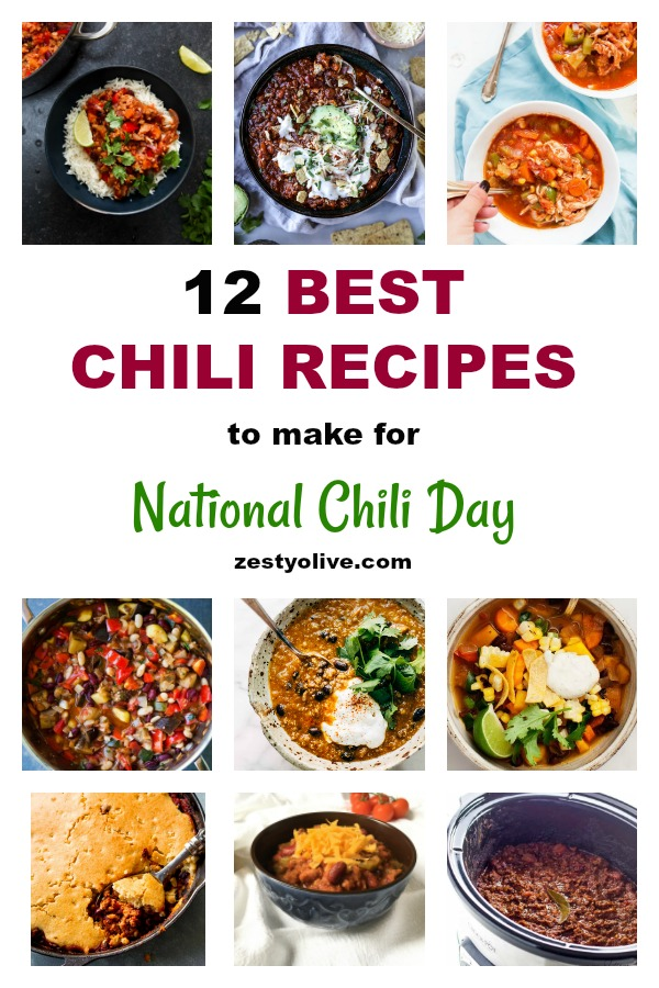 In celebration of National Chili Day, here are 12 of the best chili recipes to consider for your celebration of this day and beyond. Whether you're looking for beef, turkey, pork, vegetarian, keto, easy, slow cooker, dutch oven, or instant pot varieties of chili, you're sure to find one that fits your needs right here.