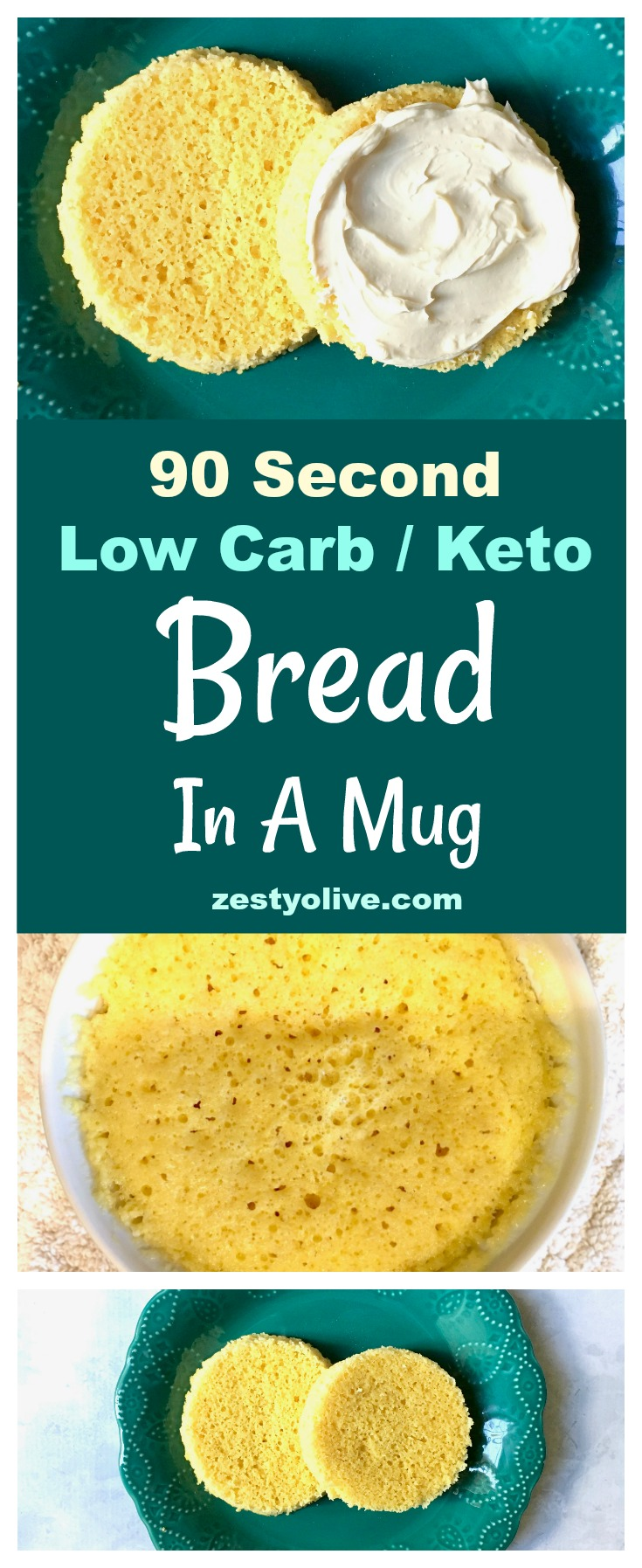 How To Make 90 Second Keto Low Carb Bread In A Mug Zesty