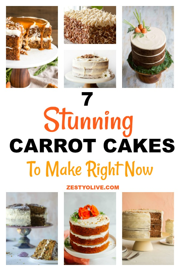 Here are 7 stunning carrot cakes that you can totally make right now. They look impressive and gorgeous, but they are within your power to re-create them for yourself, right in your own kitchen!