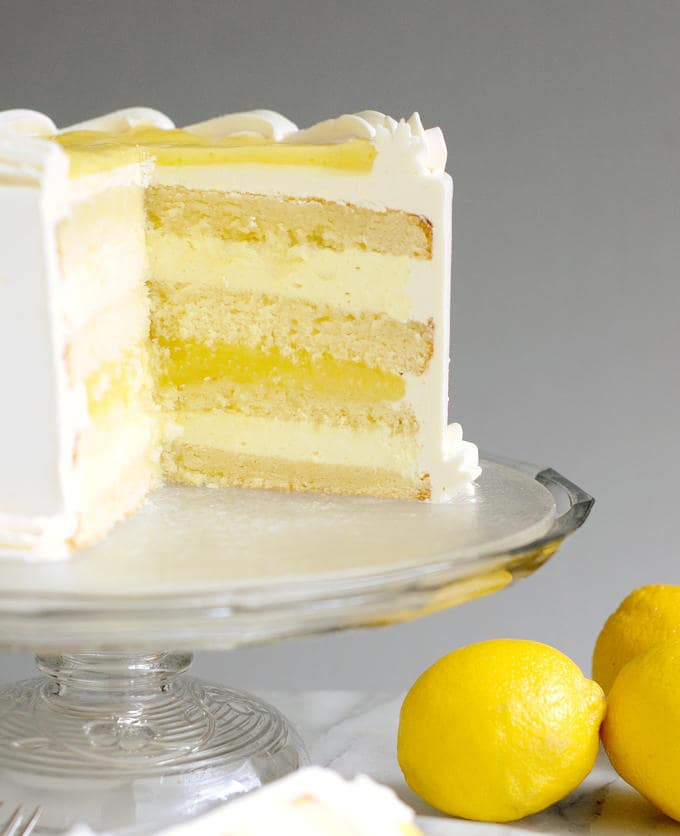 Lemon Bluebery Rosemary Cake