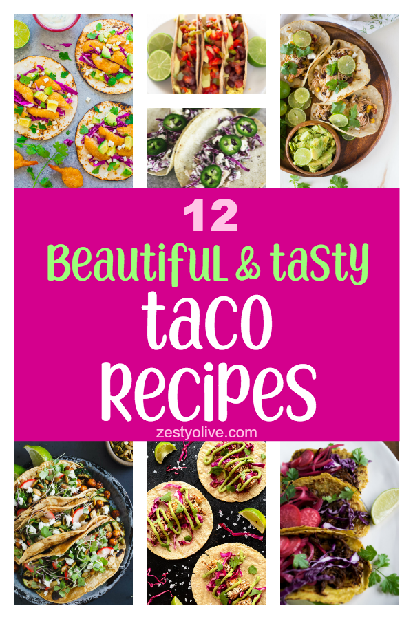 Whether you love hard shell or soft shell, here are 12 tasty taco recipes that are also beautiful to behold. Creative cooks have really outdone themselves with an array of meats, veggies, toppings, sauces and dips to inspire your next Taco Tuesday meal.