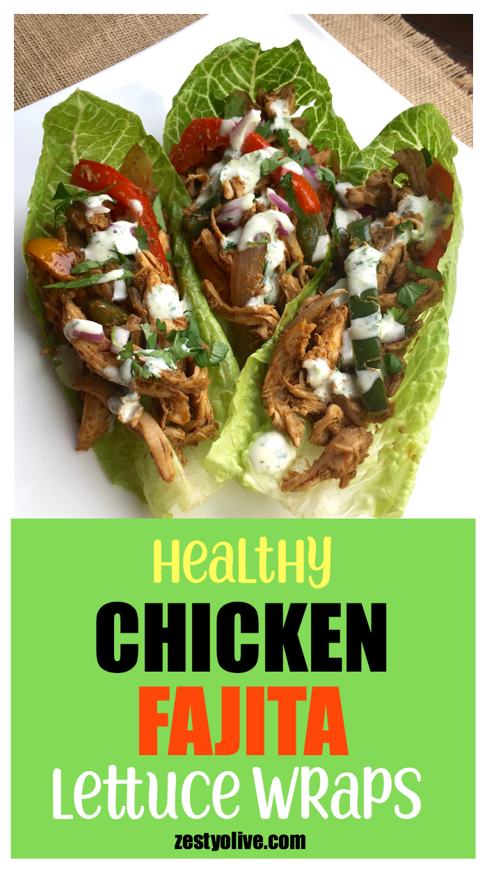 These Healthy Chicken Fajita Lettuce Wraps come together quickly thanks to rotisserie shredded chicken. With minimal time at the stove, you can prepare a tasty meal in under 30 minutes.