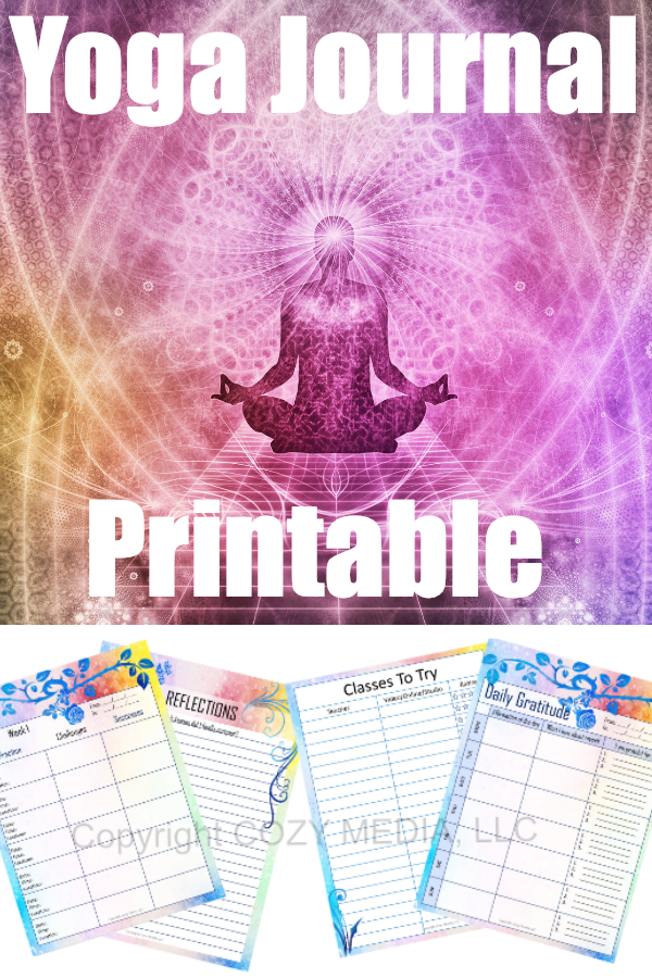 This digital printable journal, Yoga Off The Mat, guides you though a weekly reflection with different prompts for each session. Re-use again and again to track your progress.