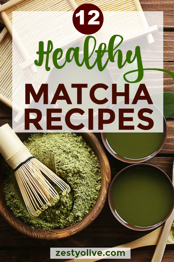 Matcha, a green tea leaf powder, is a healthy alternative to coffee and is commonly made into a tea or latte. Here are 12 delicious and healthy matcha recipes that go beyond tea!