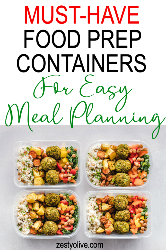 must have food prep containers for easy meal planning